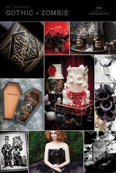 Halloween inspired Gothic + Zombie themed ideas from heartoffrederick.com