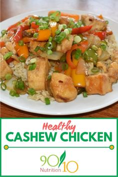 This healthy cashew chicken recipe doesn't use refined sugar and you absolutely won't miss it. Whole 30 Recipes, Real Food Recipes, Chicken Recipes, Healthy Recipes, Asian Recipes, Clean Dinners, Clean Eating Recipes For Dinner, Slow Cooker Balsamic Chicken, Cashew Chicken