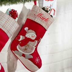 Plaid Christmas Stockings, Plaid Stockings, Holiday Fonts, Christmas Couple, Cute Pattern, Warm Colors, Favorite Holiday, Mom And Dad, Little Boys
