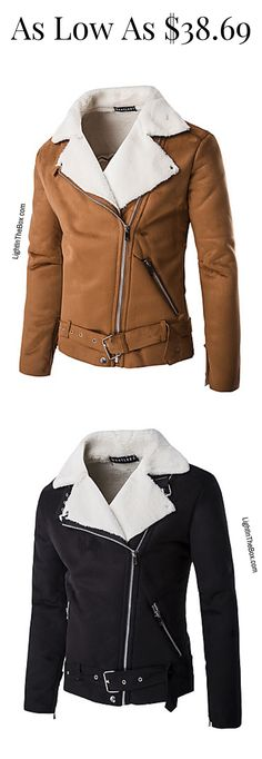Casual winter men jacket. Find it in brown, black and orange colours at just $38.69. Click to shop.