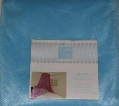 Studio Blue Netting Bed Canopy One Size Fits Most Beds by Studio. $29.99. This Studio bed canopy features pretty blue netting. One size fits most beds.Studiosheer bed canopyPretty blue mosquito nettingDecorative and funFits twin, full and queen bed sizesMade from 100% polyesterHand washBrand is Studio