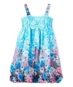Look at this Blue Floral Rose Chiffon Babydoll Dress - Infant, Toddler & Girls on today! Cute Girl Outfits, Cute Outfits For Kids, Cute Girls, Summer Outfits, Summer Dresses, Summer Clothes, Toddler Girl Dresses, Little Girl Dresses, Girls Dresses