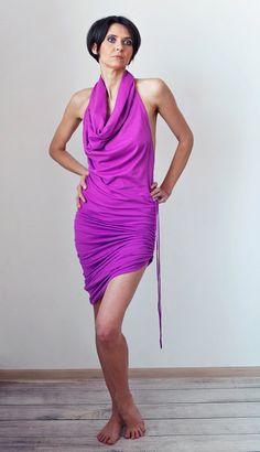 Fuchsia maxi & mini DRESS MORELOVE TANTRA by MoreLoveWear on Etsy