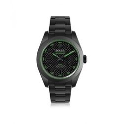MAD Customized Watches Customized Rolex Milgauss Green Carbon Men's Watch