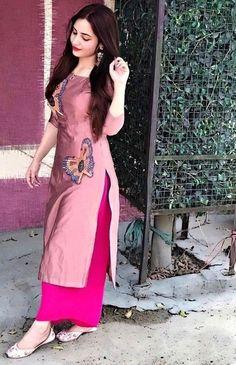 Untitled Untitled - Suit World Silk Kurti Designs, Simple Kurta Designs, Kurta Designs Women, Kurti Designs Party Wear, Punjabi Suits Designer Boutique, Indian Designer Suits, Indian Gowns Dresses, Indian Fashion Dresses, Punjabi Suits Party Wear