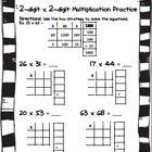 2 digit x 2 digit multiplication practice box method area model math multiplication. Black Bedroom Furniture Sets. Home Design Ideas