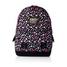 4a1fdc71999 Shop Superdry Womens Dewberry Montana Rucksack in Black Floral. Buy now  with free delivery from the Official Superdry Store.