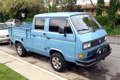 """Volkswagen Transporter """"Syncro"""" 4WD double-cab truck 1986 or later San Jose, California March 21, 2016 The original bumpers appear to have been replaced with aftermarket parts."""