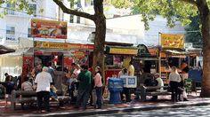 Portland, Oregon -A food cart cluster.