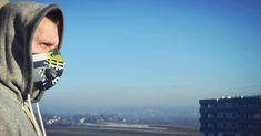 uck smog 💀  #smog #cracow #nowahuta #respro #mask #zdrowie