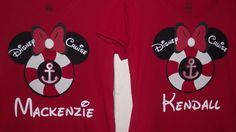 Disney Inspired Cruise Minnie Mickey Mouse Inspired Anchor - Birthday Family Custom T-Shirt Personalized Applique