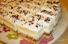Citromos-krémsajtos szelet **Katt a képre, ha érdekel a receptje is** Raw Cake, Sweet And Salty, Vanilla Cake, Tiramisu, Cheesecake, Food And Drink, Cooking Recipes, Sweets, Cookies
