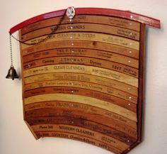 Wood antique hanger art