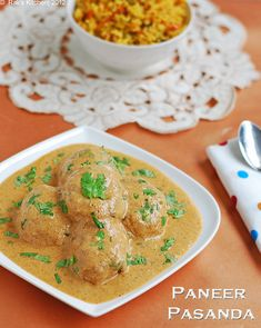 Paneer pasanda is an exotic side dish for roti and mild pulao with paneer cutlets in a rich curd based gravy!