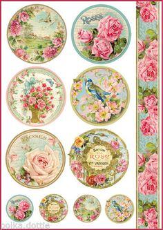 Rice-Paper-Decoupage-Decopatch-Sheet-Vintage-Roses-Soap-Labels-Scrapbooking