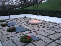 "Eternal Flame, Arlington                           JFK's undelivered words from 11/22/63  ""We in this country, in this generation, are by destiny rather than choice the watchmen on the walls of world freedom. We ask, therefore, that we may be worthy of our power and responsibility — that we may exercise our strength with wisdom and restraint. That must always be our goal, and the righteousness of our cause must always underlie our strength.'"""