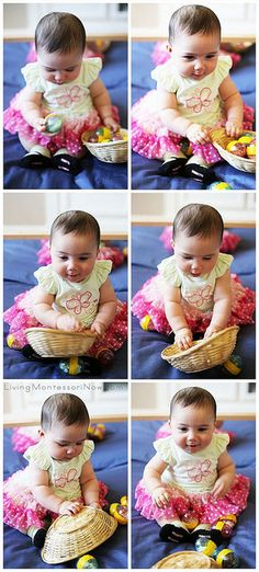 Working with Easter Egg Sound Cylinders at Age 5 Months by Deb Chitwood, via Flickr
