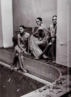 Vogue Italia March 2004 Wonder Photo : Steven Meisel   Models : Gemma Ward, Lisa Cant, Jessica Stam, Caroline Trentini