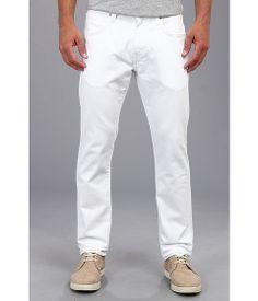 Mavi Jeans Jake Regular Rise Slim Leg in White Oslo