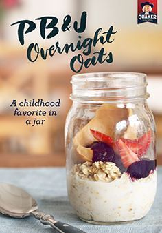We took your favorite childhood lunch to a whole new level with overnight oats!