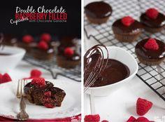ChocolateRaspberryGanacheCupcakes  www.PersonalTrainerBradenton.com