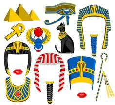Egypt digital photo booth party props instan by ZealwithFishes