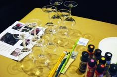 Wine Glass Painting and Tasting is what we do, visit our website to schedule your next private event: www.wonderfullymade4you.com