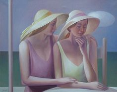 Giampaolo Ghisetti, Italian painter, approached painting toward the In the he takes part in many art exhibitions together with other artists achieving nominees and prizes. Italian Painters, Italian Artist, Friendship Love, Magic Realism, Girl With Hat, French Artists, Famous Artists, Contemporary Artists, Female Art