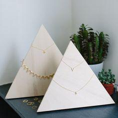 Un triangle en bois