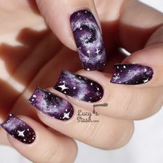50 Gorgeous Galaxy Nail Art Designs and Tutorials - Noted List