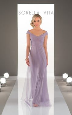 Sequin bridesmaid dress with tulle overlay.