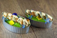 Tempura, Mussels, Ceviche, Appetisers, Creative Food, Kimchi, Food Presentation, Catering, Sushi