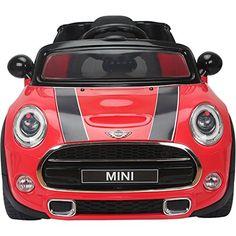 LICENSED 12V MINI COOPER TWIN MOTOR REMOTE CONTROL KIDS RIDE ON CAR RED