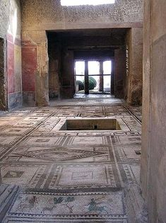 AD79 eruption #Pompeii -- The House of Paquius Proculus (Pansa) -- On the south side of the Via dell'Abbondanza -- Excavated in 1911 -- Remains of 7 children were discovered inside one room.