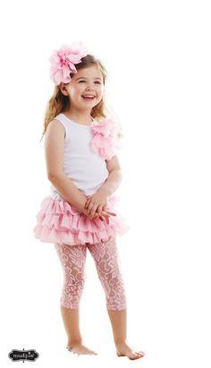 Mud Pie Little Girls Lace Legging