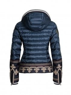 BOGNER Women Designer Ski Wear | Down Ski Jacket 'Leana-d' (Back)