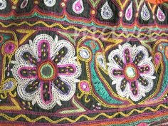 Flo: Shisha embroidery (see bookmarked tutorial) secure fimo shapes