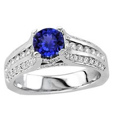 Get this gorgeous .96ct Round #Tanzanite Ring With .63ctw Diamonds in 14k White Gold just for $1679.99.