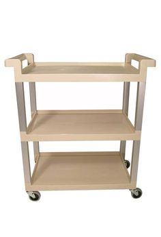 Utility Service Cart with 3 shelves: Mobile cart with 3 shelves