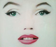 Marilyn Monroe oil painting. Artist: Sarah Wymer | This image first pinned to Marilyn Monroe Art board, here: http://pinterest.com/fairbanksgrafix/marilyn-monroe-art/ || #Art #MarilynMonroe