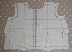 Marking up and sewing the toile