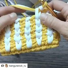 """102 curtidas, 4 comentários - Arte em Crochê Gisa Rodriguez (@gisarodriguez) no Instagram: """"Mais um pontinho muito legal para aprendermos. #fiosdemalha #fiodemalha #trapillo #trapilho…"""""""