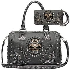 online shopping for Sugar Skull Day Dead Punk Art Purse Removable Strap Women Satchel Handbag Shoulder Bag Wallet Set from top store. See new offer for Sugar Skull Day Dead Punk Art Purse Removable Strap Women Satchel Handbag Shoulder Bag Wallet Set Skull Purse, Bags 2018, Designer Wallets, Kate Spade Purse, Satchel Handbags, Leather Handle, Purses And Bags, Women's Bags, Lady