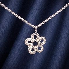 Silver lace flower necklace - Ruth Mary Jewellery