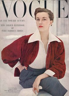 August Vogue 1949 | by dovima2010