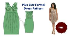 This Plus Size Formal Dress Pattern is for a charming and flattering mini dress. The cut of this dress emphasizes the waistline making you look slimmer.