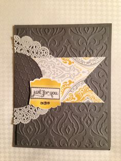 Stampin' Up! cardstock & papers make it so easy to make FAST cards!