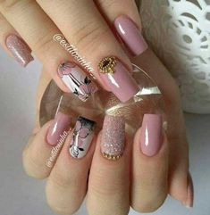 🔼Discover our semi-permanent nail polish for a perfect manicure in record time😉! 🎁 on your first order with the code -International delivery Aycrlic Nails, Pink Nails, Hair And Nails, Cute Nail Art, Cute Nails, Pretty Nails, Bridal Nail Art, Fall Nail Art Designs, Nail Art Hacks