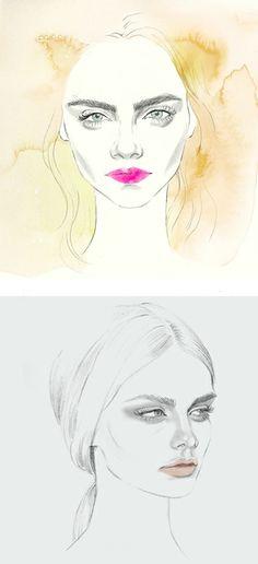 Cara Delevingne x Teri Chung Illustration