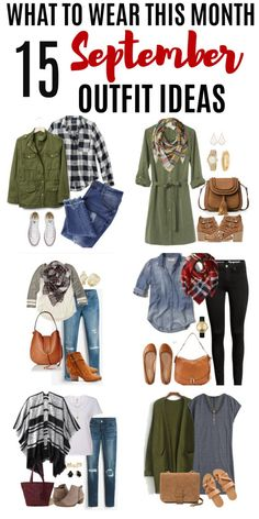 Get some inspiration for what to wear this month with these 15 September Outfit Ideas. Get some inspiration for what to wear this month with these 15 September Outfit Ideas. These early fall outfits will help you get dressed with confidence. September Outfits, Early Fall Outfits, Fall Winter Outfits, Autumn Winter Fashion, Summer Outfits, Winter Wear, 2016 Winter, Summer Fashions, Summer Wear